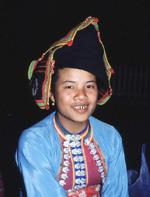 Luang Prabang - dziewczyna z plemienia Hmong